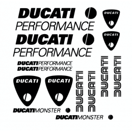 Kit de 14 Stickers Ducati
