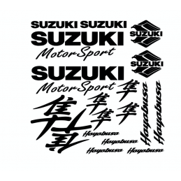 Kit de 18 Stickers Suzuki
