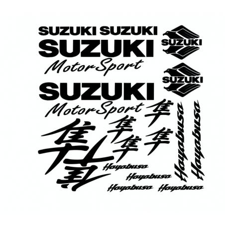 Kit de 18 Stickers Suzuki